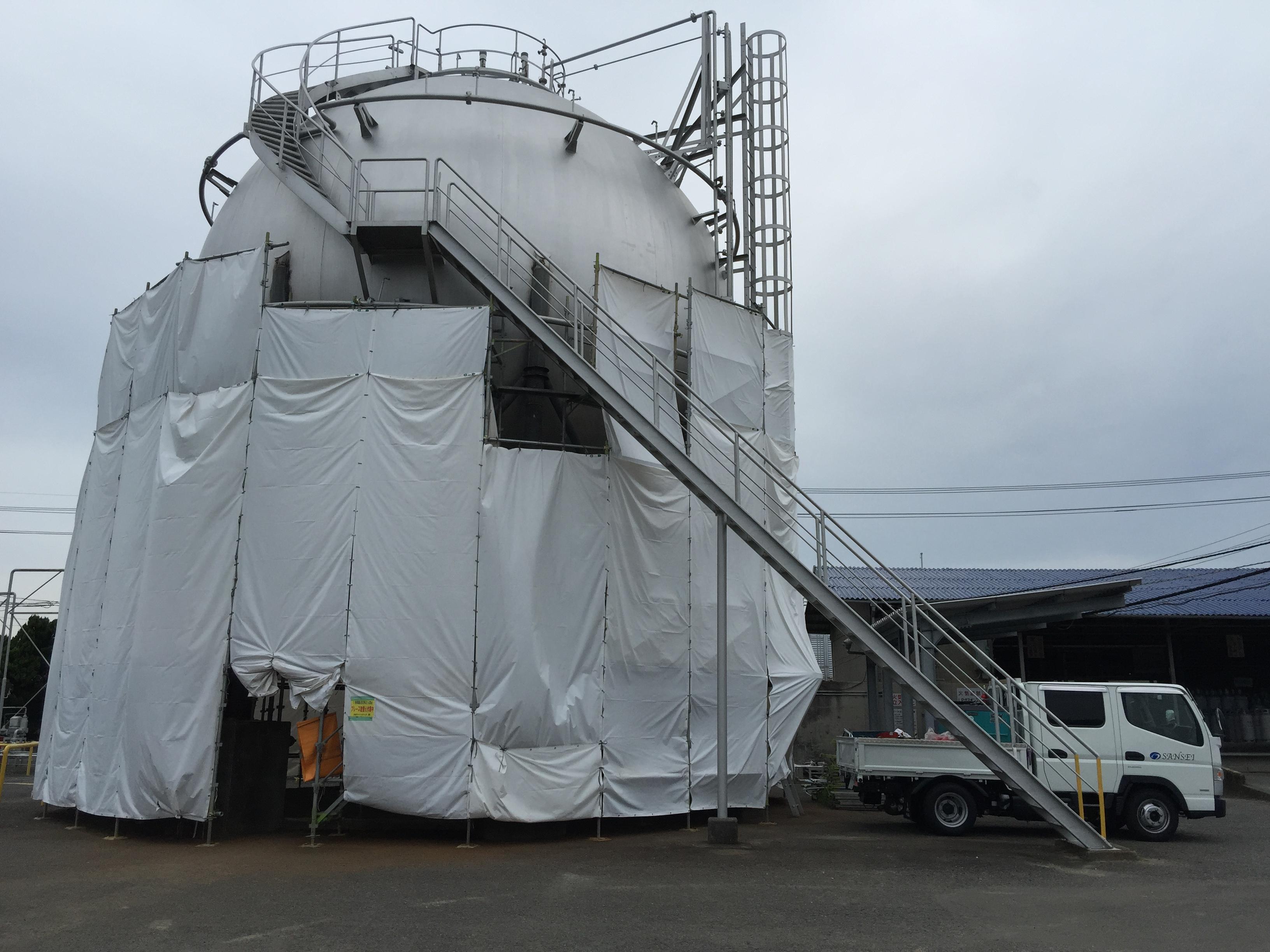 球形タンク耐震補強工事
